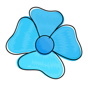 Blue Flower Vector Clipart