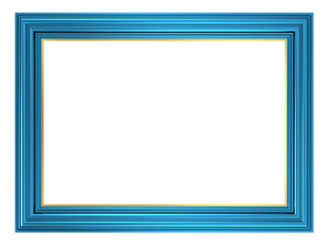 Blue Frame Isolated On White Background.