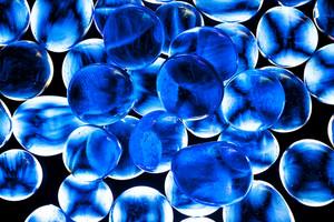 Blue Gass Beads