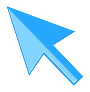 Blue Glossy Arrow