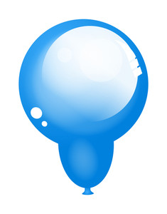 Blue Glossy Balloon