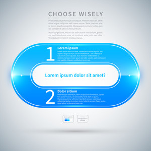Blue Glossy Design Layout. Useful For Web Design Or Advertising.
