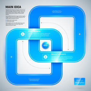 Blue Glossy Design Layout With Different Options.