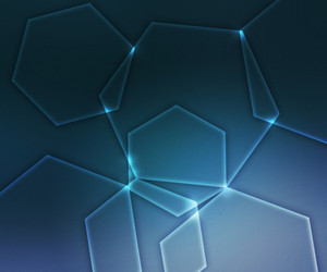 Blue Glowing Hexagonal Shapes Background
