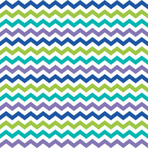 Blue, Green, Purple, And White Chevron Pattern On Monster Paper