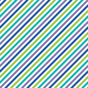Blue, Green, White, And Purple Diagonal Stripes Pattern On Monster Paper