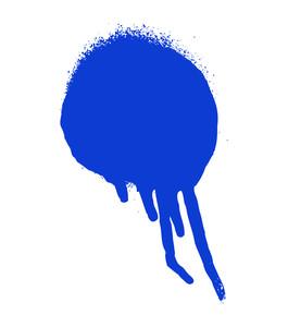 Blue Grunge Stain