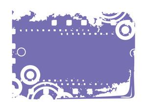 Blue Grungy Frame Illustrayion