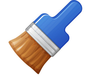 Blue Handle Paint Brush
