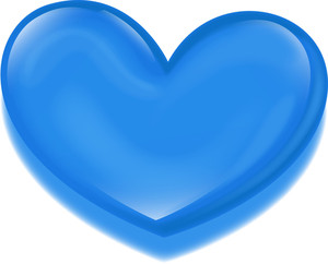 Blue Heart Isolated