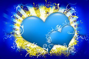 Blue Hearts Design