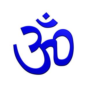 Blue Hinduism Symbol.