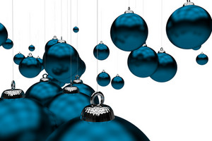 Blue Holiday Ornaments