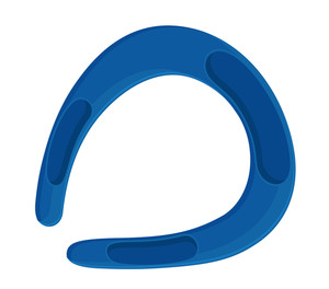Blue Horseshoe Shape Vector