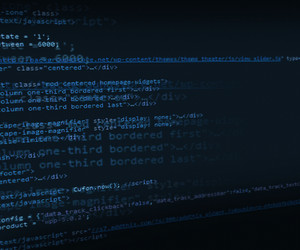 Blue Html Code Background