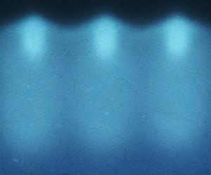 Blue Illuminated Wall