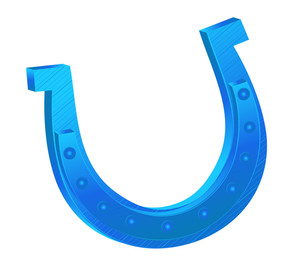 Blue Iron Horseshoe Design
