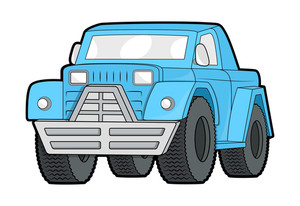 Blue Jeep Vector