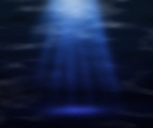 Blue Magic Spot Light Background