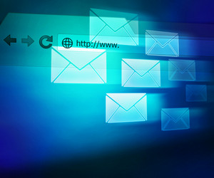 Blue Mail Abstract Background