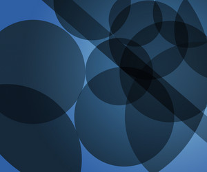 Blue Modern Circles Background