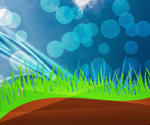 Blue Nature Abstract Grass Background