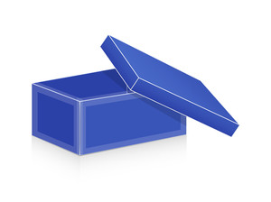 Blue Open Box Vector