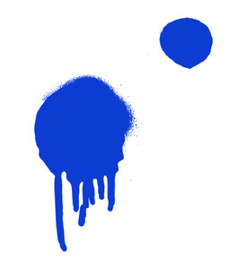 Blue Paint Drops Background