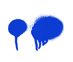 Blue Paint Spray Elements