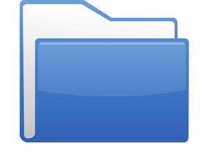 Blue Paper File