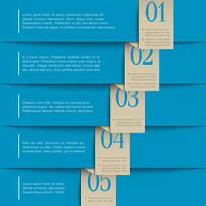 Blue Paper Numbered Banners