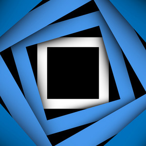 Blue Paper Square And Frame Background