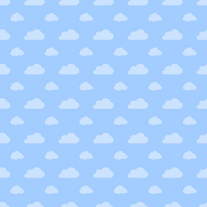 Blue Pastel Cloud Pattern