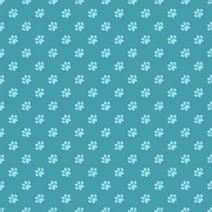 Blue Paw Print Pattern