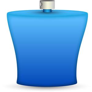 Blue Perfume Bottle Illustration