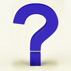 Blue Question Mark Representing Faqs Or Support