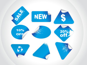 Blue Retail Price Stickers