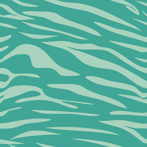 Blue Retro Beach Animal Print Pattern