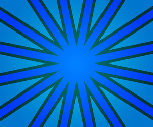 Blue Retro Rays Background