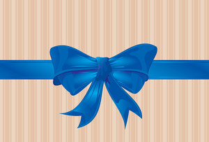 Blue Ribbon. Vector.