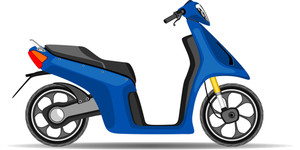 Blue Scooter.