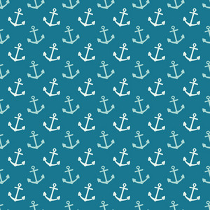 Blue Sea Anchors Pattern
