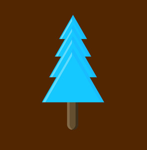Blue Shape Christmas Tree Vector Design