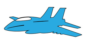 Blue Shape Plane Vector