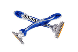 Blue Shaving Razor