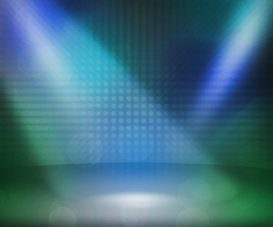 Blue Show Room Spotlights Stage Background