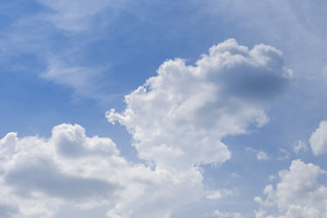 Blue sky background with white cloud.