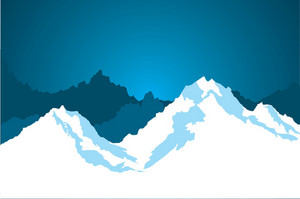 Blue Snowy Mountains