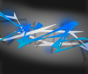 Blue Spiky Abstract Background