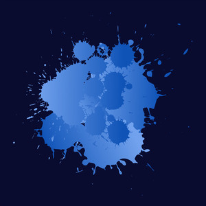 Blue Splashes Grunge - Vector Background